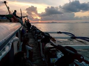 En el ferry a Siargao