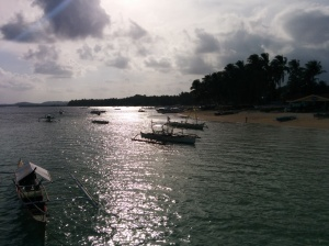 Una foto de la costa