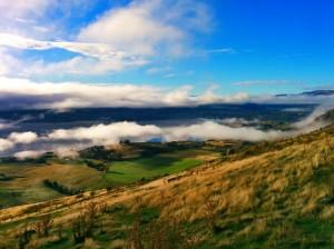 Vistas subiendo al Mount Roy