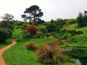 Verdes colinas de Hobbiton