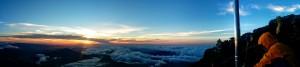 Contemplando el amanecer