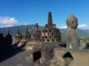 Budas en el templo